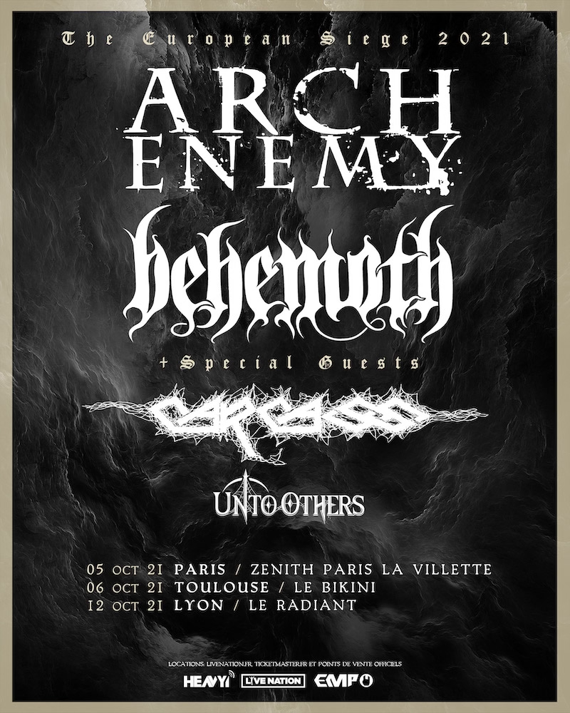 ARCH ENEMY, BEHEMOTH, CARCASS en concert