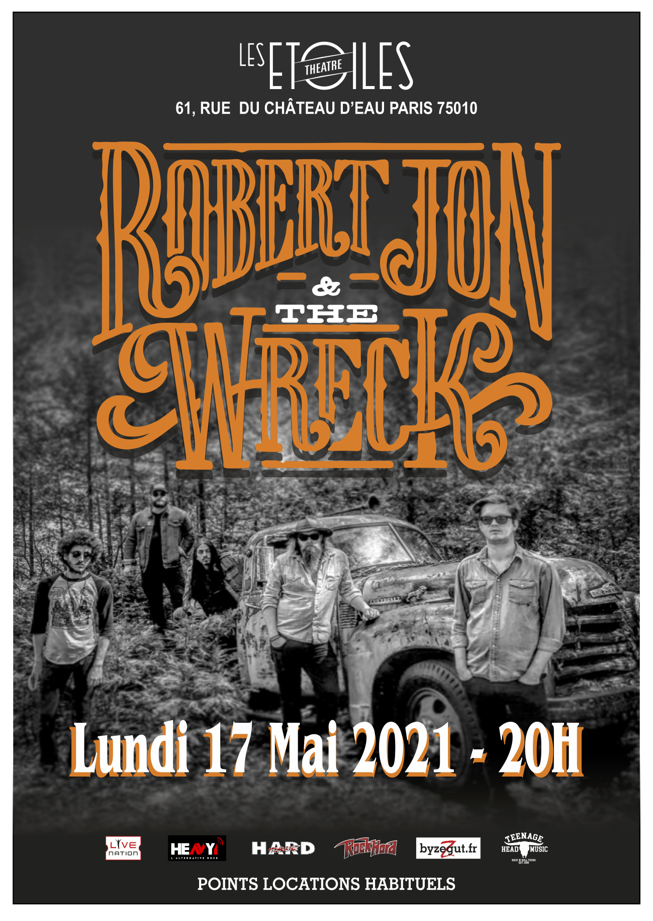 ROBERT JON AND THE WRECK en Concert