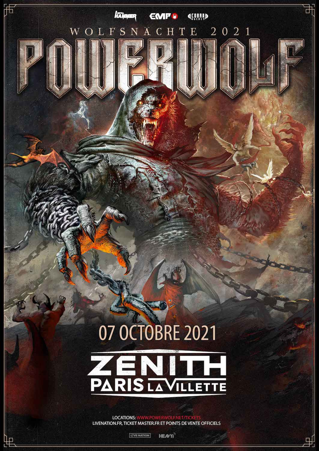 POWERWOLF - Zénith Paris la Villette, 7 octobre 2021